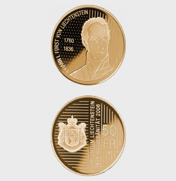 200 Years of the sovereign Principality of (Liechtenstein) (2006) - Gold Coin