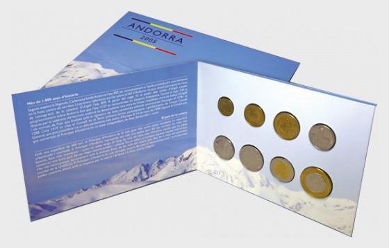 Andorra –Euro Forerunner (2005) - Münz-Karte