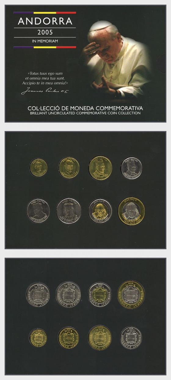Andorra im Gedenken an Papst Johannes Paul II. (2005) - Gedenk