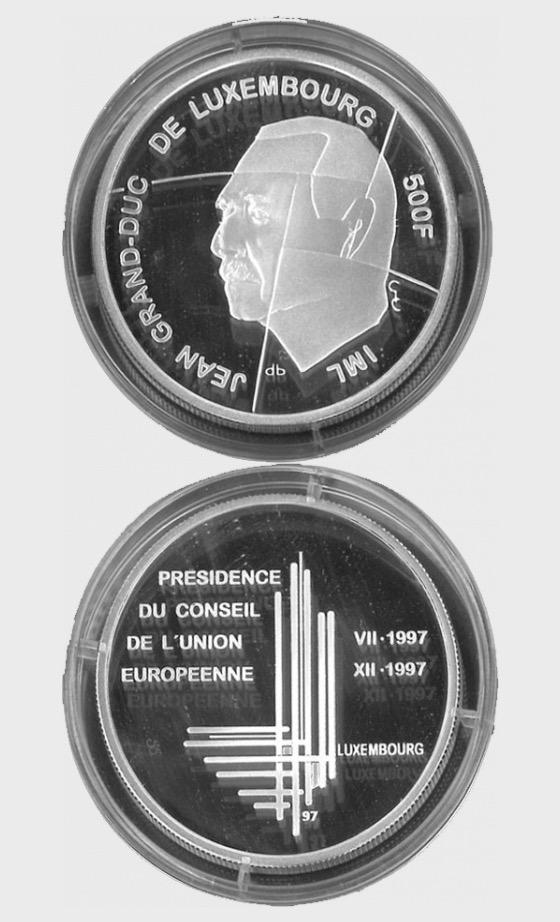 Luxembourg - 500 LUF Gedenkmunze President (1997) - Single Coin