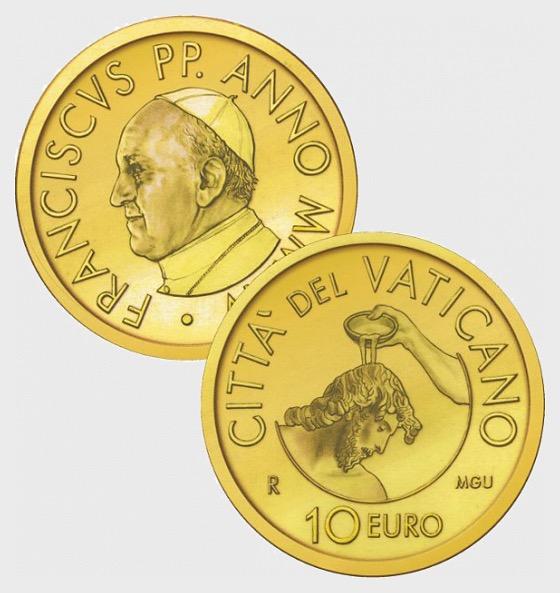 Vatican - 10 Euro Gold Commemorative Coin Baptism (2014) - Gold Coin
