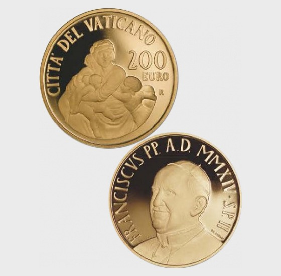 Vatican - 200 Euro Gold Coin - The Theological Virtues, Charity (2014) - Gold Coin