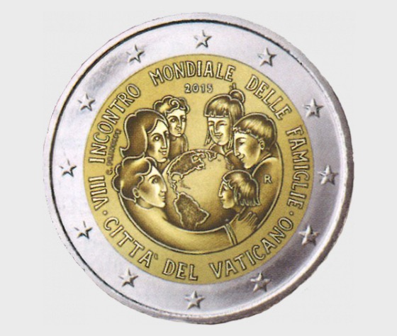 Vatican - 2 Euro Gold Commemorative Coin - 8th World Meeting of Families, – Philadelphia (2015) - Proof Version - Single Coin