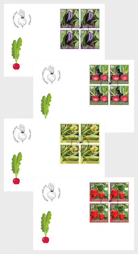 Crop Plants - Vegetables - (FDC Block of 4) - First Day Cover block of 4