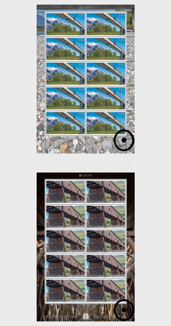 Europa 2018 - Bridges - (Sheetlet CTO) - Sheetlets CTO