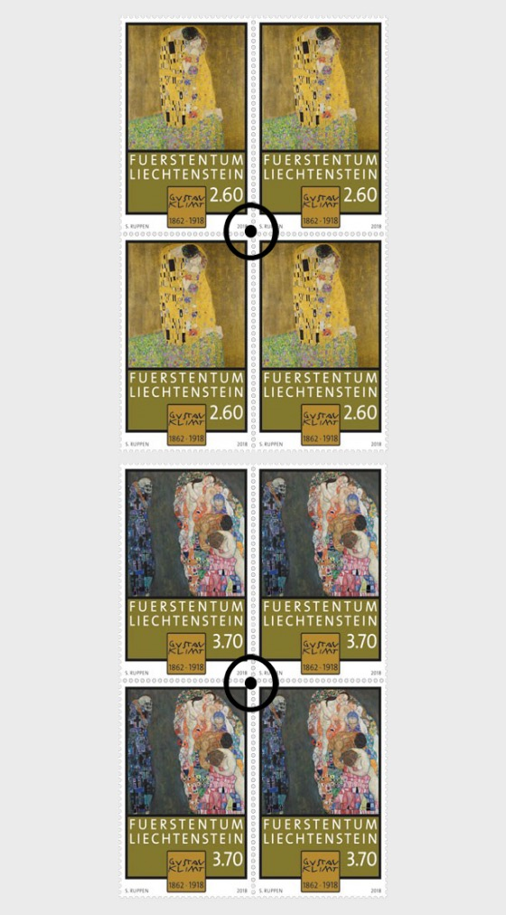 100th Anniversary of the Death of Gustav Klimt - (Block of 4 CTO) - Block of 4 CTO