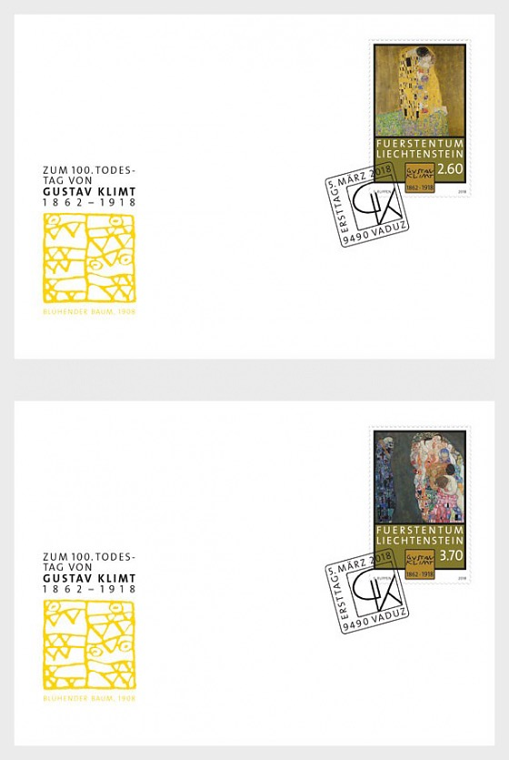 100th Anniversary of the Death of Gustav Klimt - (FDC Single Stamp) - First Day Cover single stamp