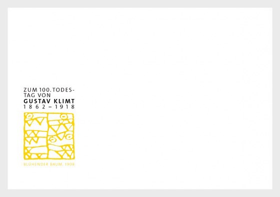 100th Anniversary of the Death of Gustav Klimt - (FDC With No Stamp) - FDC without stamp