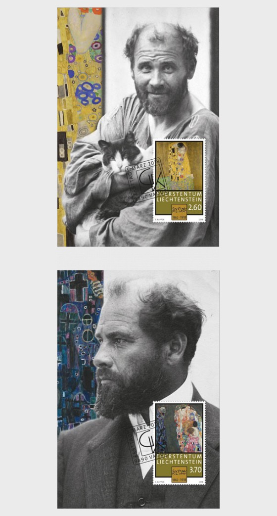 100th Anniversary of the Death of Gustav Klimt - Maxi Cards