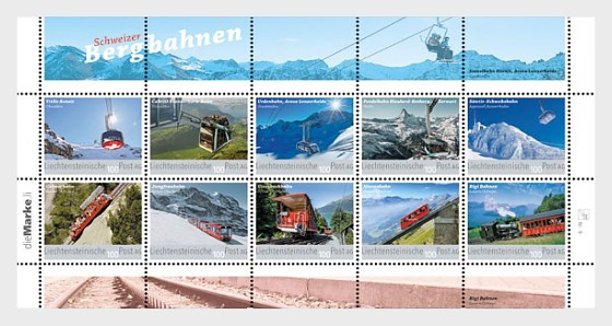 Swiss Mountain Railways - (Collection Sheet Mint) - Sheetlets