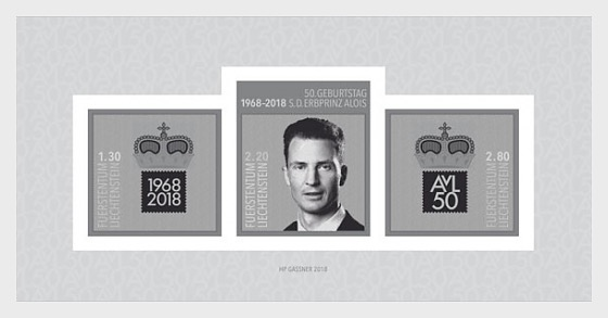 50th Birthday of H.S.H. Hereditary Prince Alois von und zu Liechtenstein - (Black Print M/S) - Blackprint