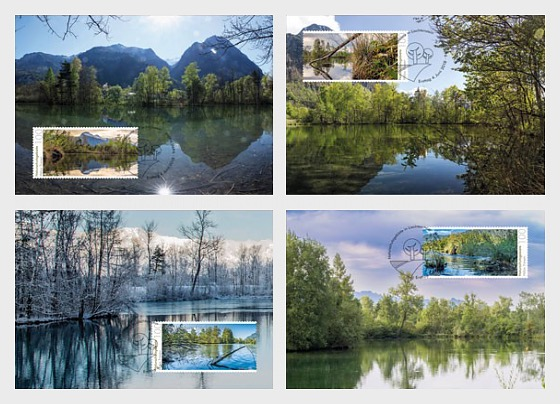 Nature Reserves in Liechtenstein - Halos - Maxi Cards