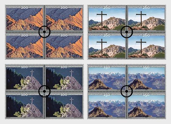 Summit Crosses – II - (Block of 4 CTO) - Block of 4 CTO
