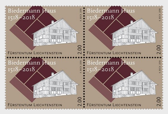 500 Years of the Biedermann House - (Block of 4 Mint) - Block of 4