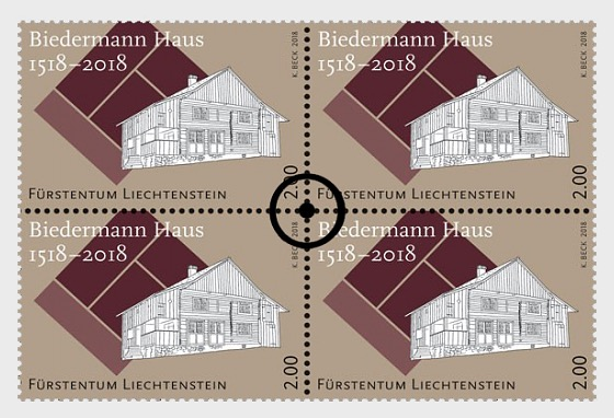 500 Years of the Biedermann House - (Block of 4 CTO) - Block of 4 CTO