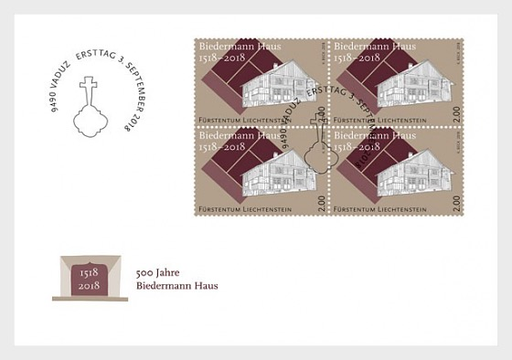 500 Years of the Biedermann House - (FDC Block of 4) - First Day Cover block of 4
