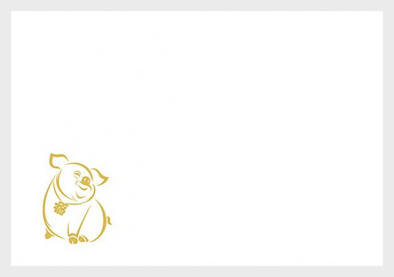Chinese Signs of the Zodiac - Year of the Pig - (Envelope - C6) - Envelopes