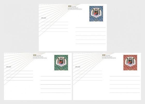 Postcard - 100 Years of Postal Stationery in Liechtenstein 2018 - (Mint) - Postcard