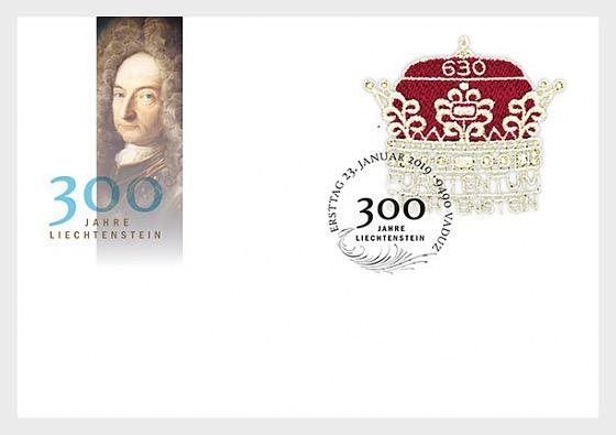 300 Years of Liechtenstein - First Day Cover