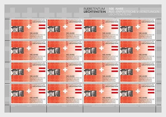 100 Years of Liechtenstein's Foreign Representation - Full Sheet Mint - Full sheets