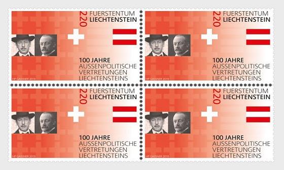 100 Years of Liechtenstein's Foreign Representation - Block of 4 Mint - Block of 4