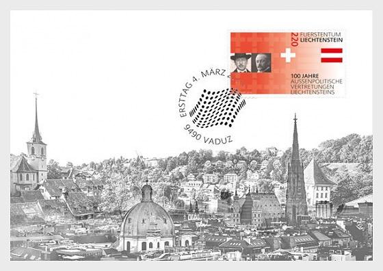 100 Years of Liechtenstein's Foreign Representation - Maxi Cards