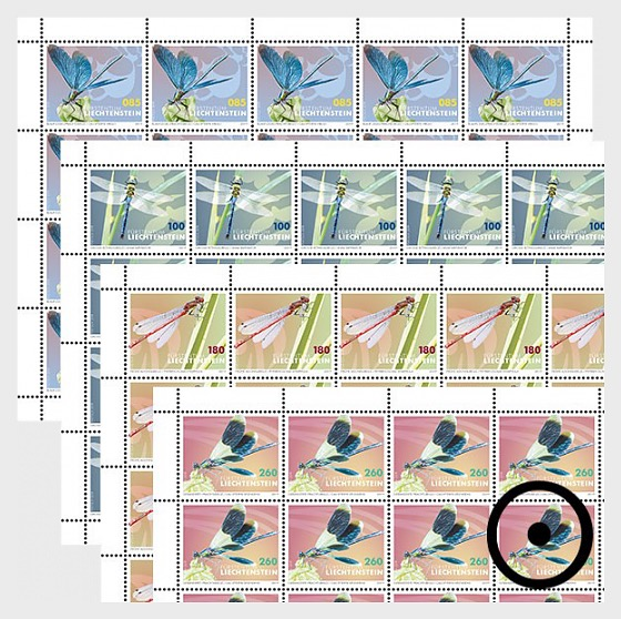 Dragonflies - Full Sheet CTO - Full sheets