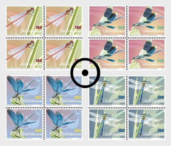 Dragonflies - Block of 4 CTO - Block of 4 CTO