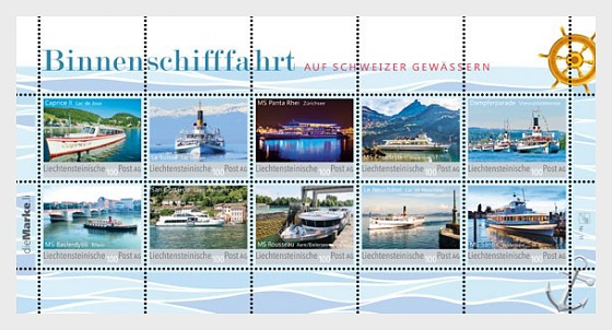 Inland Navigation on Swiss Waters - Collection Sheet - Mint - Sheetlets