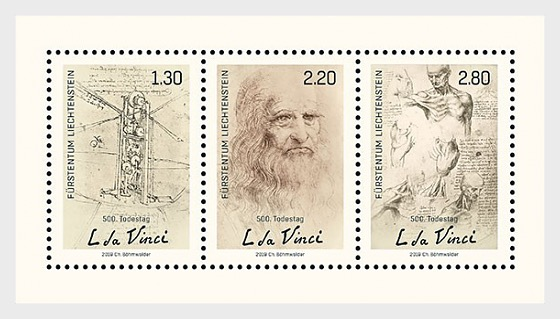 500th Anniversary of the Death of Leonardo da Vinci - M/S Mint - Miniature Sheet