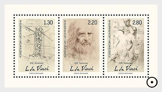 500th Anniversary of the Death of Leonardo da Vinci - M/S CTO - Miniature Sheet CTO