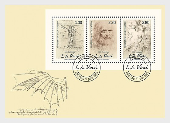 500th Anniversary of the Death of Leonardo da Vinci - First Day Cover