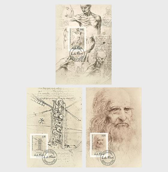 500th Anniversary of the Death of Leonardo da Vinci - Maxi Cards