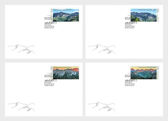 Mountain Panorama - FDC Single Stamp - First Day Cover single stamp