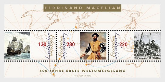500 Years First World Circumnavigation - M/S Mint - Miniature Sheet
