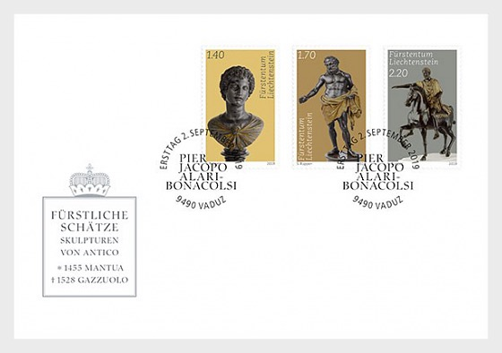 Princely Treasures - Sculptures of Antico - FDC Set - First Day Cover