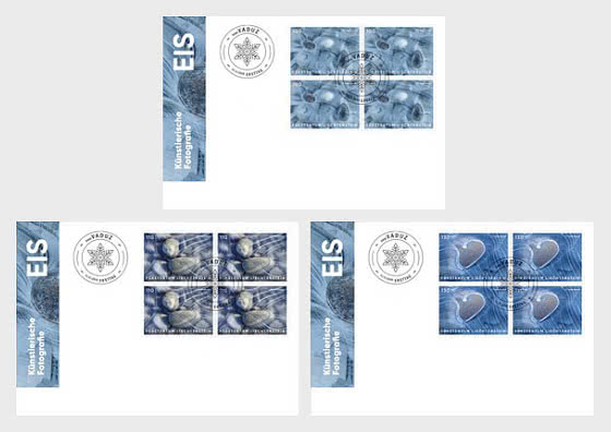 Artistic Photography - Ice - FDC Block of 4 - First Day Cover block of 4