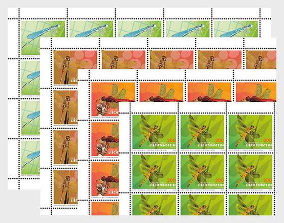 Dragonflies - II - Sheet x20 Stamps Mint - Full sheets