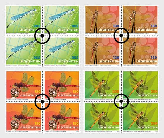 Dragonflies - II - Block of 4 CTO - Block of 4 CTO