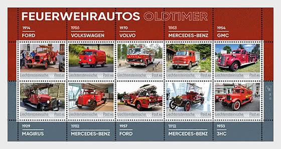 Oldtimer Fire Engines - Collection Sheet - Mint - Sheetlets