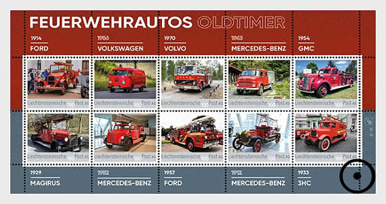 Oldtimer Fire Engines - Collection Sheet - CTO - Sheetlets CTO