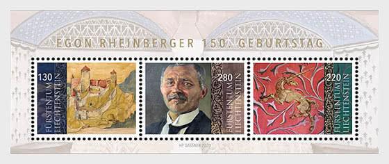 150th Birthday of Egon Rheinberger - M/S Set - Miniature Sheet
