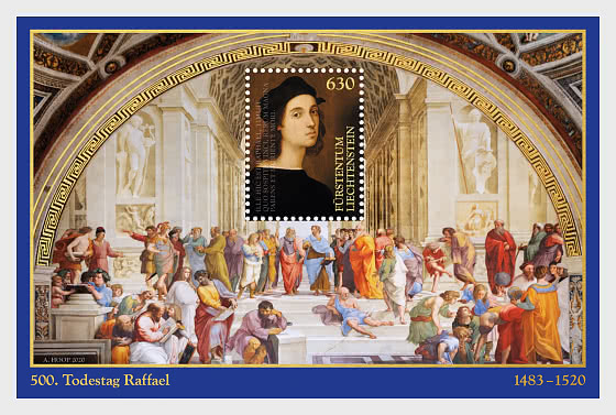 500th Anniversary of the Death of Raphael - M/S Mint - Miniature Sheet
