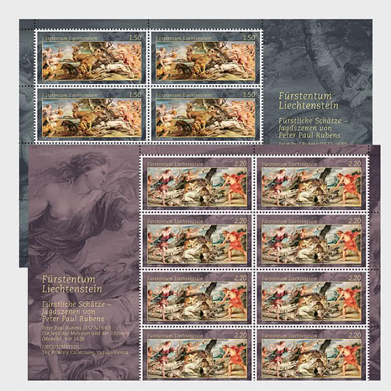 Princely Treasures – Hunting Scenes of Rubens - Sheet x 8 Stamps Mint - Sheetlets