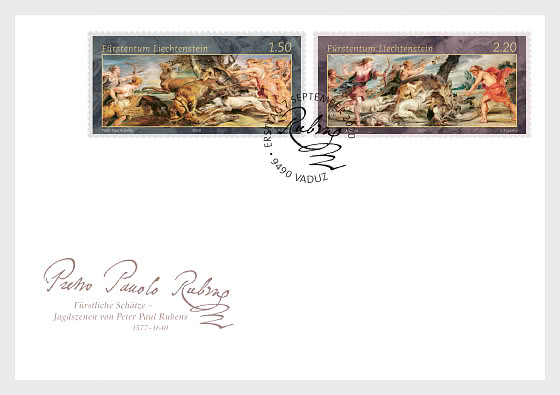 Princely Treasures – Hunting Scenes of Rubens - FDC Set - First Day Cover