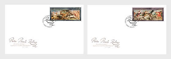 Princely Treasures – Hunting Scenes of Rubens - FDC Single Stamps - First Day Cover single stamp