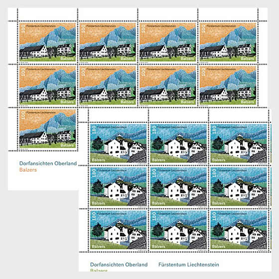 Village Views - Balzers - Sheet x 12 Stamps Mint - Full sheets