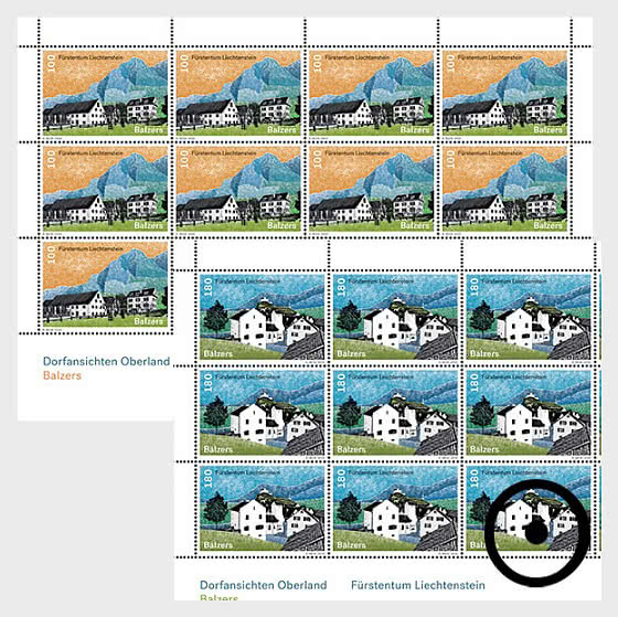Village Views - Balzers - Sheet x 12 Stamps CTO - Full sheets