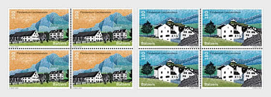 Village Views - Balzers - Block of 4 Mint - Block of 4