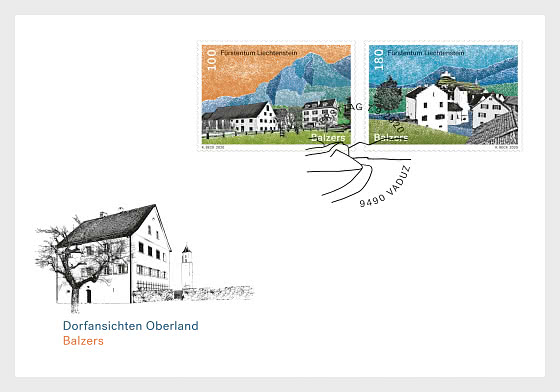 Village Views - Balzers - FDC Set - First Day Cover